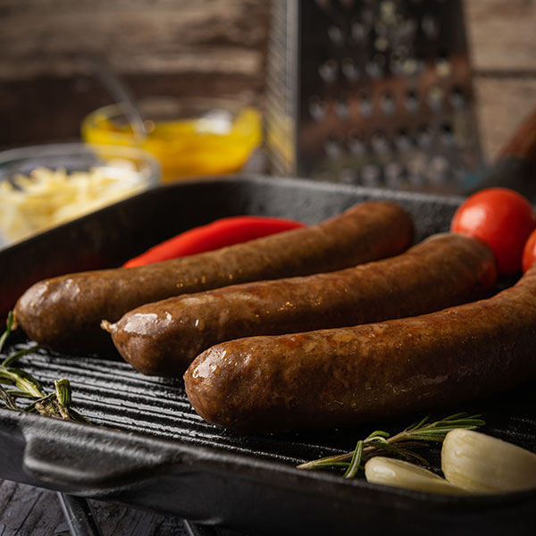 Frankfurters in a pan