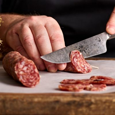 Fowlescombe Farm Pork and Fennel Salami, organic